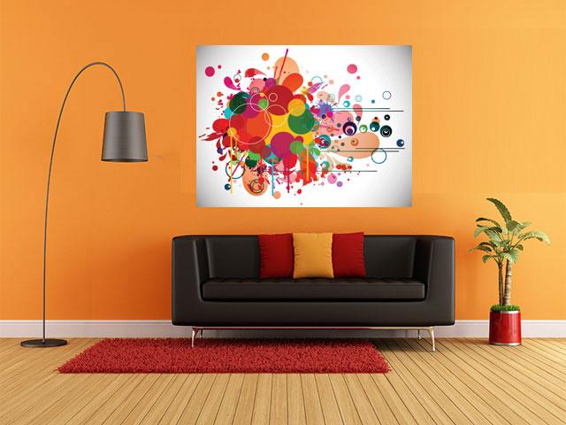 Tablou abstract bubbles - tablouri abstracte living - Tobi