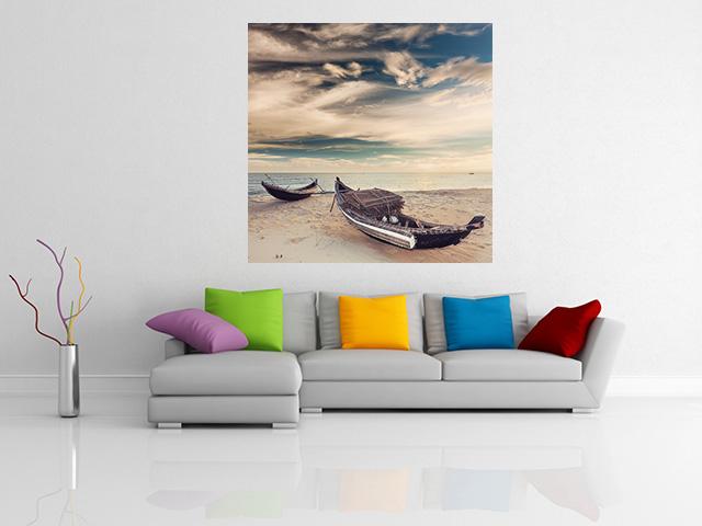 Grand canvas old fisherman boats on sunrise - cod Z08