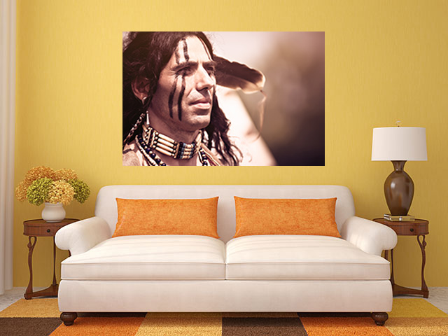 Grand canvas portrait of american indian - cod Z04