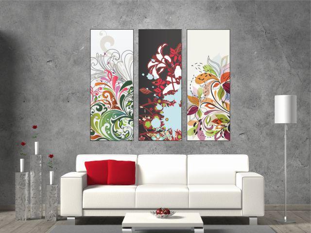 Multicanvas floral triptic - cod E08