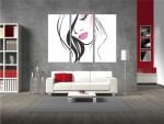 Multicanvas silueta feminina - cod E03