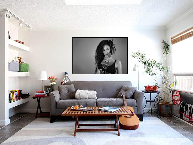 Poster fata cu trandafir - cod AAA01