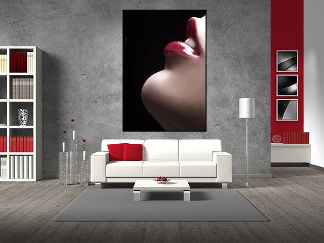 Poster femeie cu buze rosii - cod HHH02