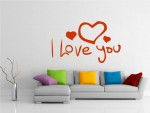 Sticker decorativ Love You - cod EE07