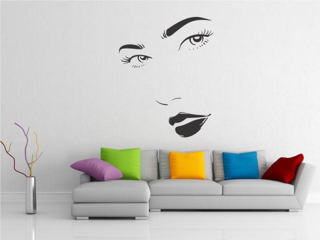 Sticker decorativ silueta femeie - cod EE09