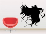 Sticker decorativ woman face - cod FF06