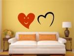 Sticker multicolor doua inimi - cod CC02