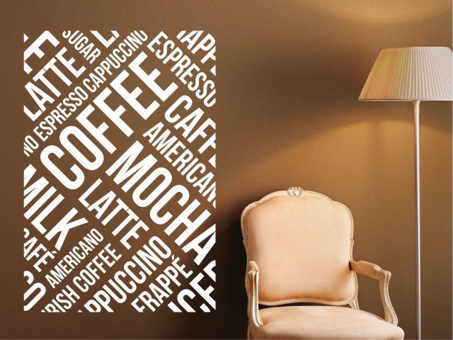 Sticker perete coffee words - cod DD06