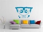 Sticker zambet cu ochelari - cod FF04