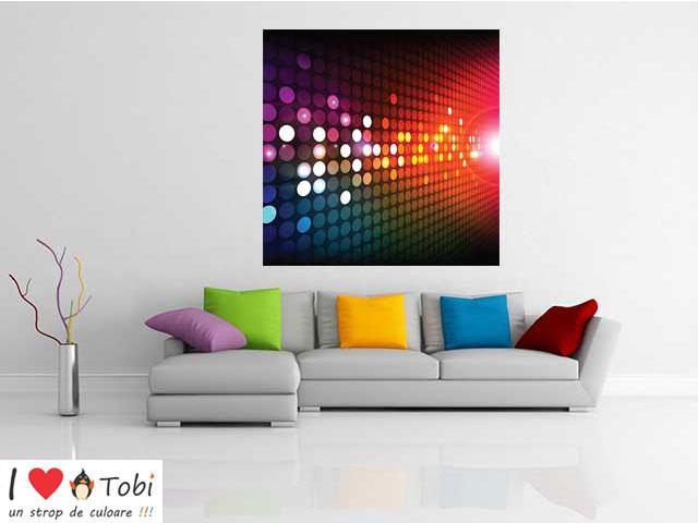 Tablou abstract cercuri si culori - cod C83
