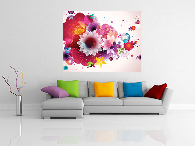 Tablou abstract design floral - cod C81