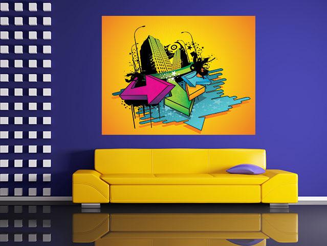 Tablou abstract urban art - cod C87