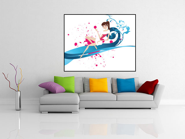 Tablou canvas abstract design - cod C46