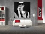 Tablou canvas alb negru - cod G12