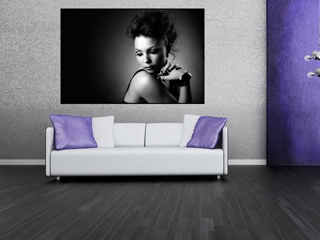 Tablou canvas alb negru - cod G25
