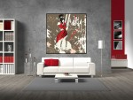 Tablou canvas arta abstracta - cod C37