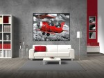Tablou canvas avion rosu - cod G13