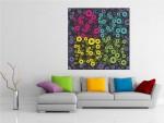 Tablou canvas cercuri colorate - cod C35