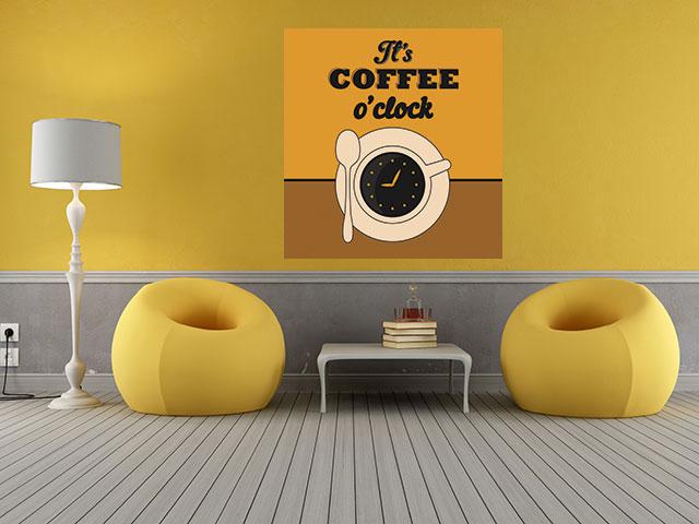Tablou canvas coffe clock - cod I04