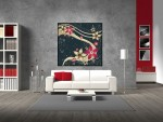 Tablou canvas design floral - cod A36