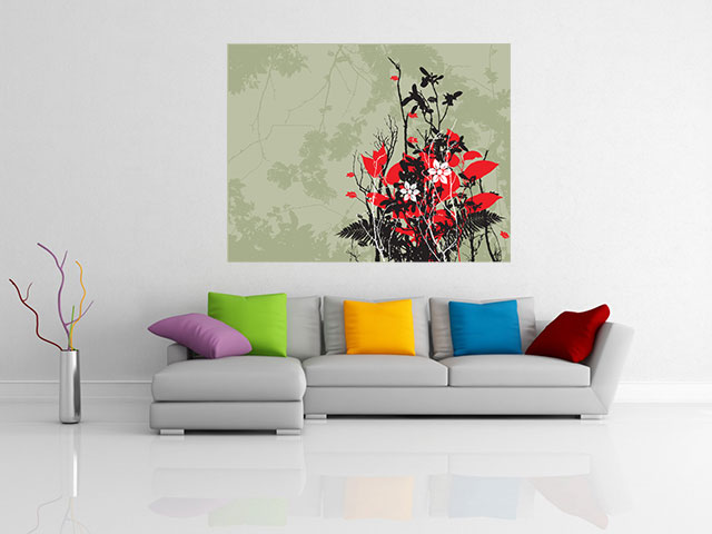 Tablou canvas design floral - cod L29