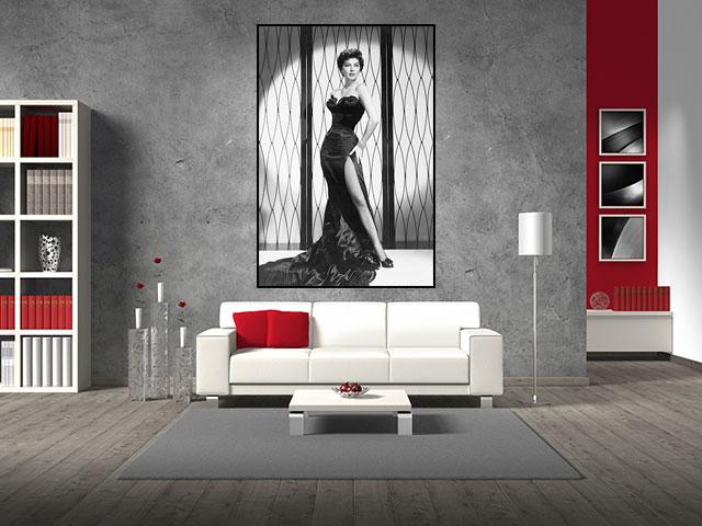 Tablou canvas femeie vintage - cod F05