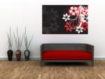 Tablou canvas floare abstracta - cod B13