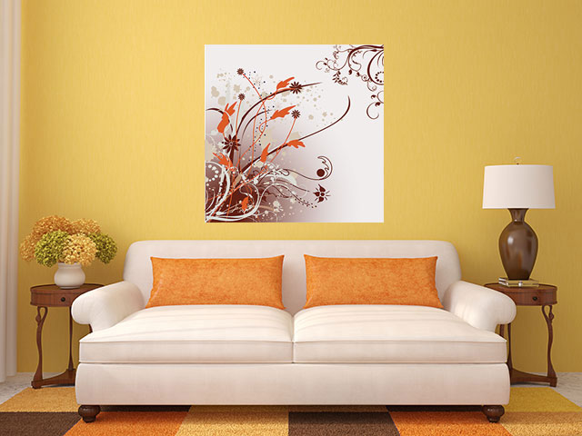 Tablou canvas flori vintage - cod F27