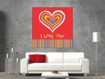 Tablou canvas I Love You - cod B22