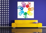 Tablou canvas maini colorate - cod C10