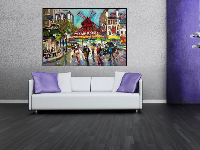 Tablou canvas Moulin Rouge - cod A46