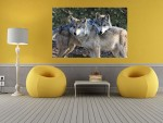 Tablou canvas Two Loving Wolves - cod P13