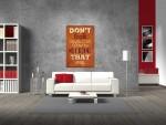 Tablou citat design vintage - cod F23