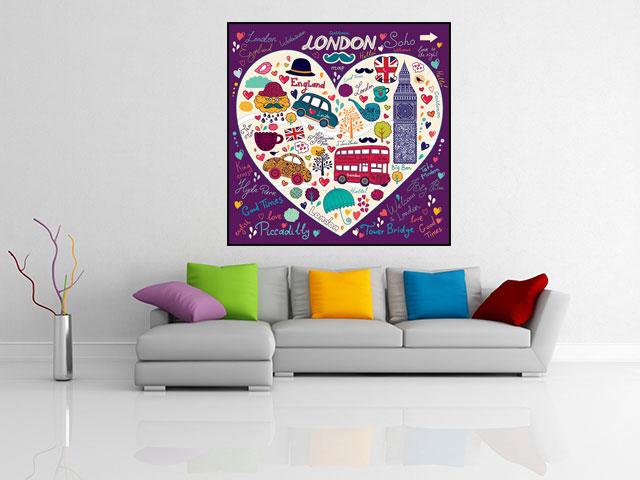 Tablou decorativ colaj Londra - cod J08