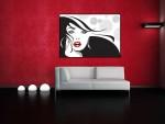 Tablou femeie cu buze rosii - cod C07