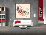 Tablou floare abstracta - cod B06