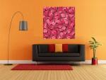 Tablou flori rosii decorative - cod L20