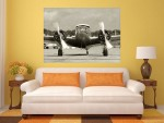 Tablou grand canvas avion vintage - cod Z17
