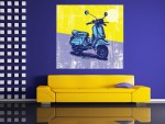 Tablou Grand Canvas ilustratie digitala scooter - cod Z10