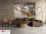 Tablou grand canvas lupi in salbaticie - cod Z12