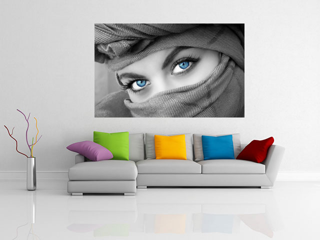 Tablou mysterious blue eyes - cod G38
