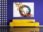 Tablou pattern decorativ cercuri - cod J13