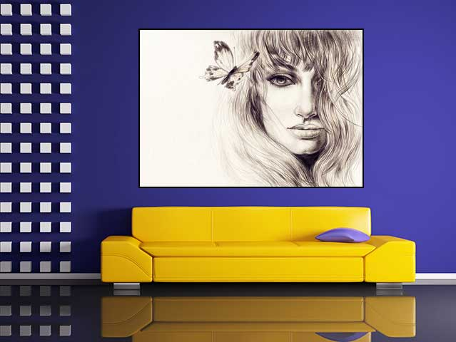 Tablou schita portret femeie - cod J20
