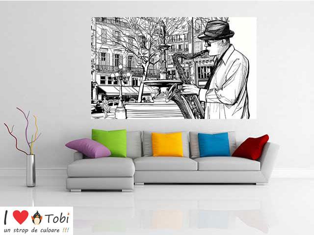 Tablou sufragerie Love Jazz - cod T06